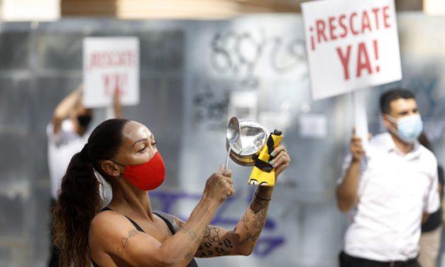 """""""Ohne Hilfe sind wir ruiniert"""": Protest der Gastwirte und Hoteliers in Granada"""