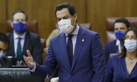 Juanma Moreno spricht sich für sachlichen Umgang mit Covid-19 aus